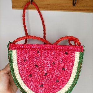 Super cute S & E watermelon rattan bag